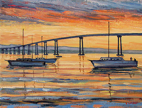 Coronado Bridge at Sunrise by Robert Gerdes