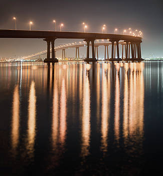 Coronado Bridge Reflection by William Dunigan