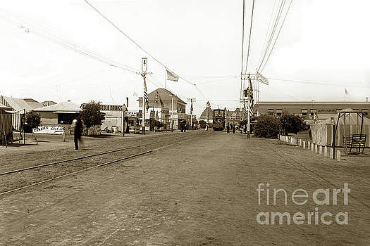 California Views Mr Pat Hathaway Archives - Coronado Tent City  and a double Deck Electric Trolley Car No. 41 circa 1900