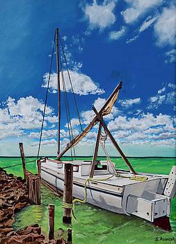 Corozal boat by Sandra Azancot