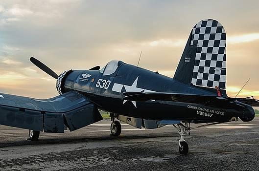 Corsair and Dawn Light - 2018 Christopher Buff, www.Aviationbuff by Chris Buff