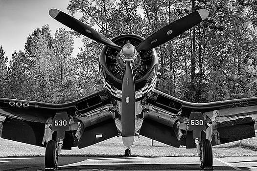 Corsair in the woods - 2018 Christopher Buff, www.Aviationbuff.c by Chris Buff