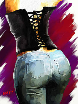 Corset and Jeans by Dillan Weems