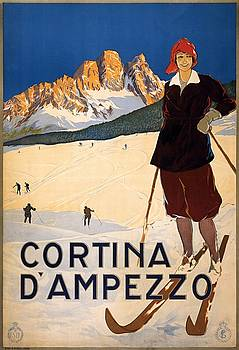 Cortina dAmpezzo, travel poster 1920 by Vintage Printery