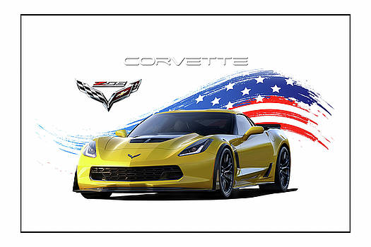 Corvette America Victory Yellow by Peter Chilelli