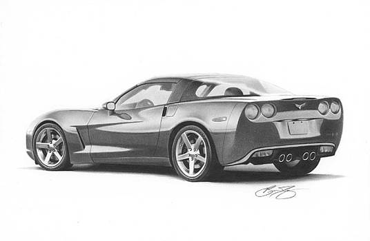 Corvette Drawing by Brian Duey