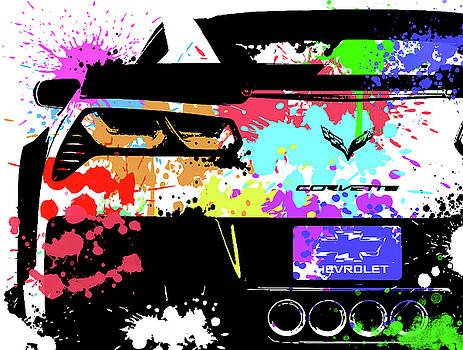 Corvette Pop Art 1 by Ricky Barnard