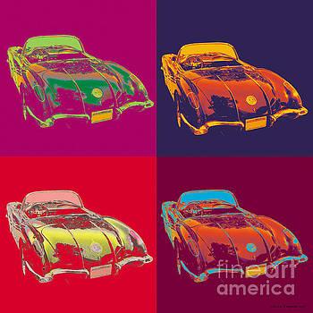 Corvette Pop Art by Jean luc Comperat