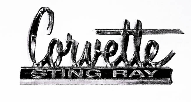 Corvette Sting Ray Emblem by Athena Mckinzie