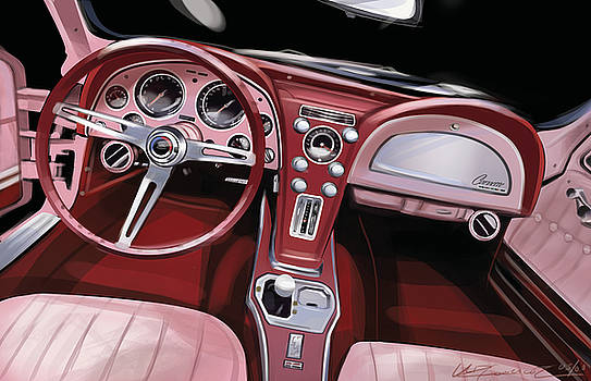 Corvette Sting Ray Interior by Uli Gonzalez