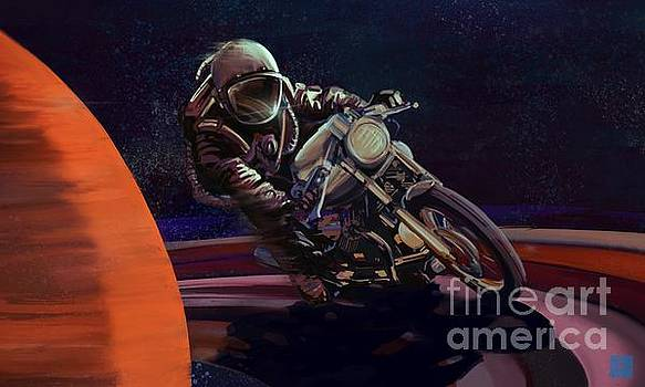 Cosmic cafe racer by Sassan Filsoof