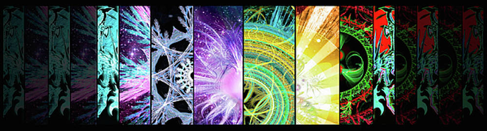 Cosmic Collage Mosaic by Shawn Dall