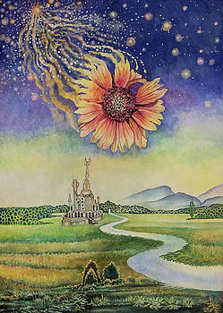 Cosmic flower by Alexander Dudchin