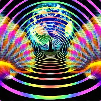 Cosmic Spiral 16 Painted by Derek Gedney