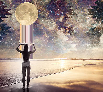 Cosmic Surf Check by Lori Menna