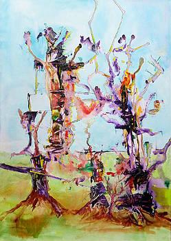 Cosmic Tree Family by Rojo Chispas
