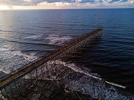 Costal Pier Sunrise by ADA Drone