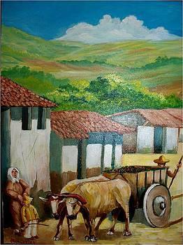 Costarican Coffee Cart by Jean Pierre Bergoeing