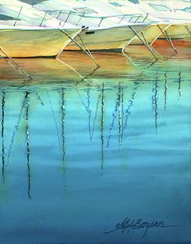 Cote d'Azur Harbor Boats by Maryann Boysen