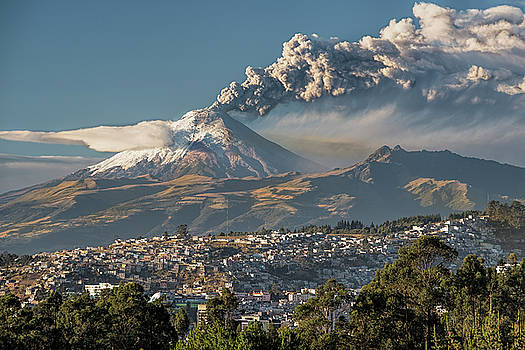 Cotopaxi volcano eruption by Henri Leduc