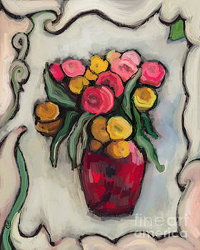 Cottage Flowers by Carrie Joy Byrnes