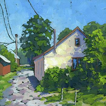 Cottage Lane by Marla Laubisch