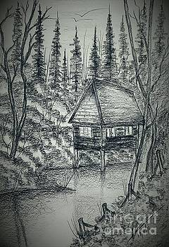 Cottage on Water by Collin A Clarke