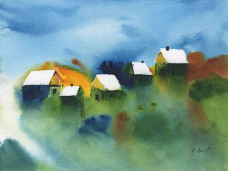 Cottages By The Sea by Frank Bright