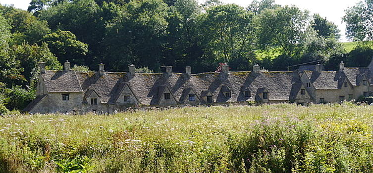 cottages in the Cotswolds by Fred Whalley