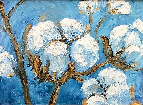 Cotton and Blue Skies by Tina Swindell