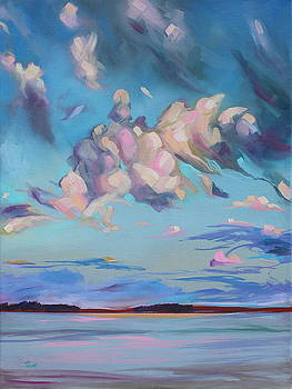 Cotton Candy Clouds by Eve  Wheeler