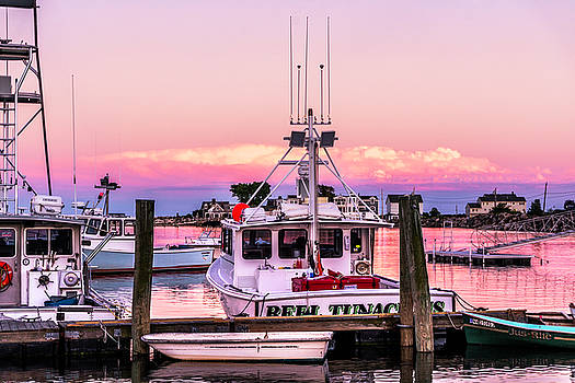 Cotton Candy Skies at Rye Harbor by Devin LaBrie