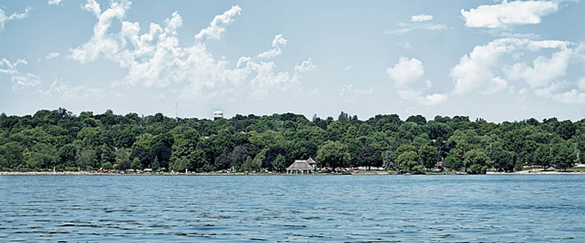 Couchiching Beach Park Pano by JGracey Stinson