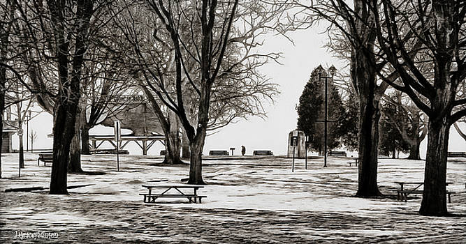 Couchiching Park in Pencil by JGracey Stinson