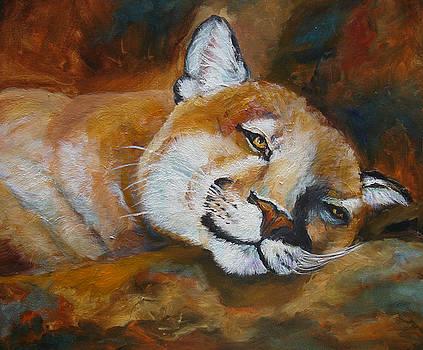 Mary Jo Zorad - Cougar Wildlife Painting
