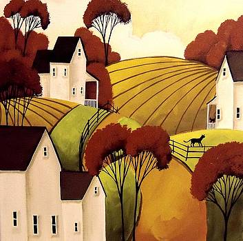 Country Cats Autumn  by Debbie Criswell