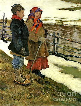 Nikolay Petrovich-Belsky - Country Children