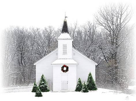 Country Christmas Church by Carol Sweetwood