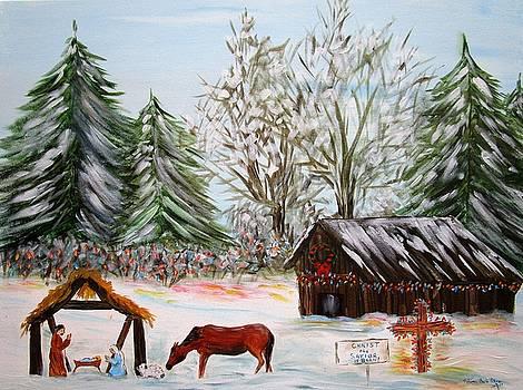 Country Christmas Nativity Scene By Melanie Palmer