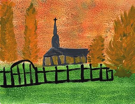 Country Church 1 by Rosemary Mazzulla