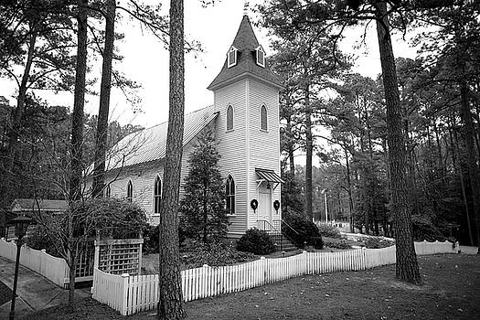 Country Church in Black and White by Matt Plyler