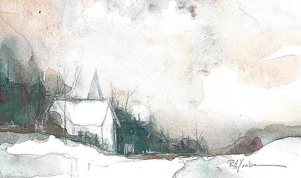 Country Church in Winter by Robert Yonke