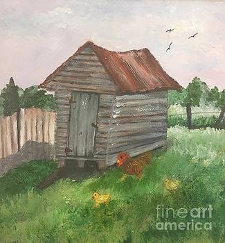 Country Corncrib by Lucia Grilletto