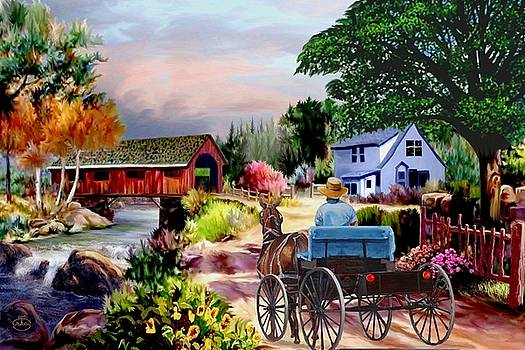 Country Covered Bridge V2 by Ron Chambers