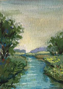 Country Creek by Linda Apple