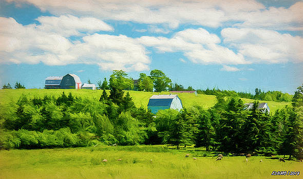 Country Farm in Nova Scotia by Ken Morris