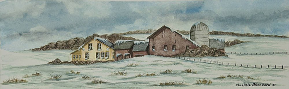Charlotte Blanchard - Country Farm In Winter