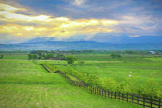 Country Fence to The Mountains by James BO Insogna