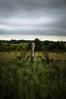 Country Fence Waiting for the Storm 001 by Lon Casler Bixby