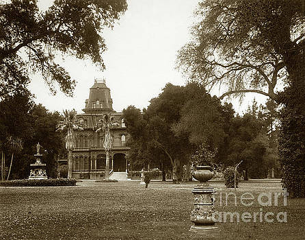 Country residence near Menlo Park Circa 1890 by California Views Mr Pat Hathaway Archives